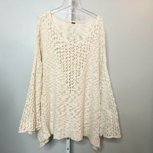 Free People Sweater Oversized Pointelle Sweater